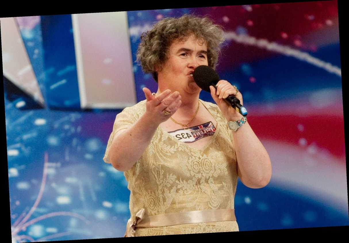 Susan Boyle rewears her iconic Britain's Got Talent gold dress 11 YEARS after first audition