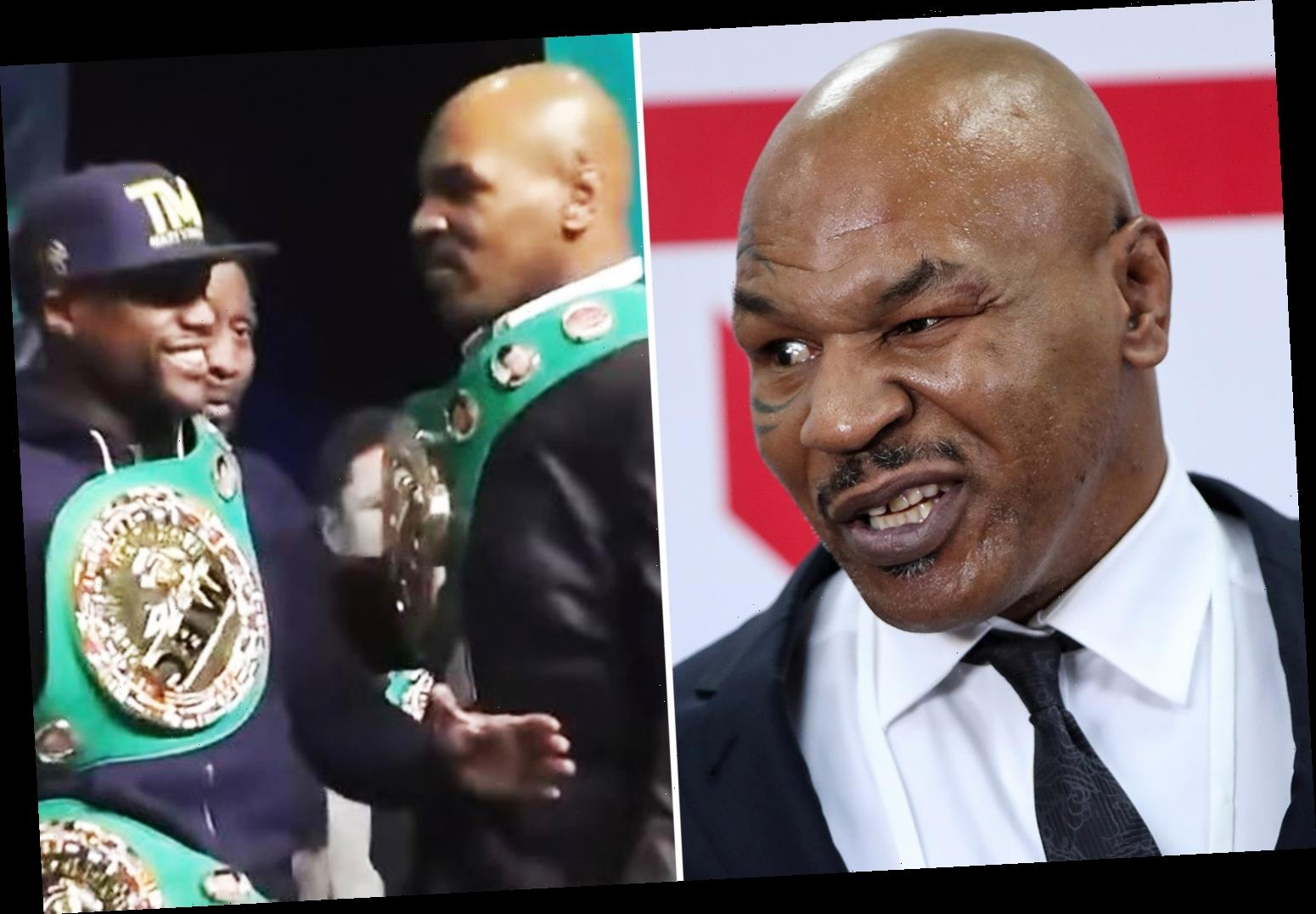 Mike Tyson says he'd 'kick Floyd Mayweather's a**e' if the two boxing legends ever game to blows – The Sun