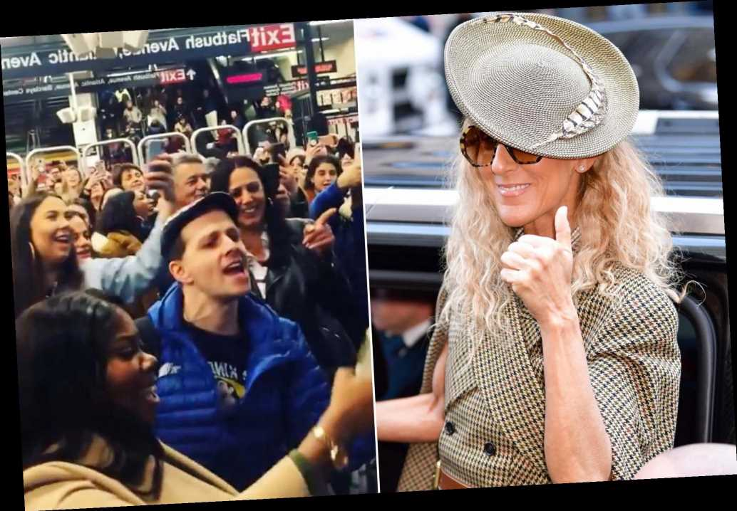 Subway riders spontaneously belt out Céline Dion songs