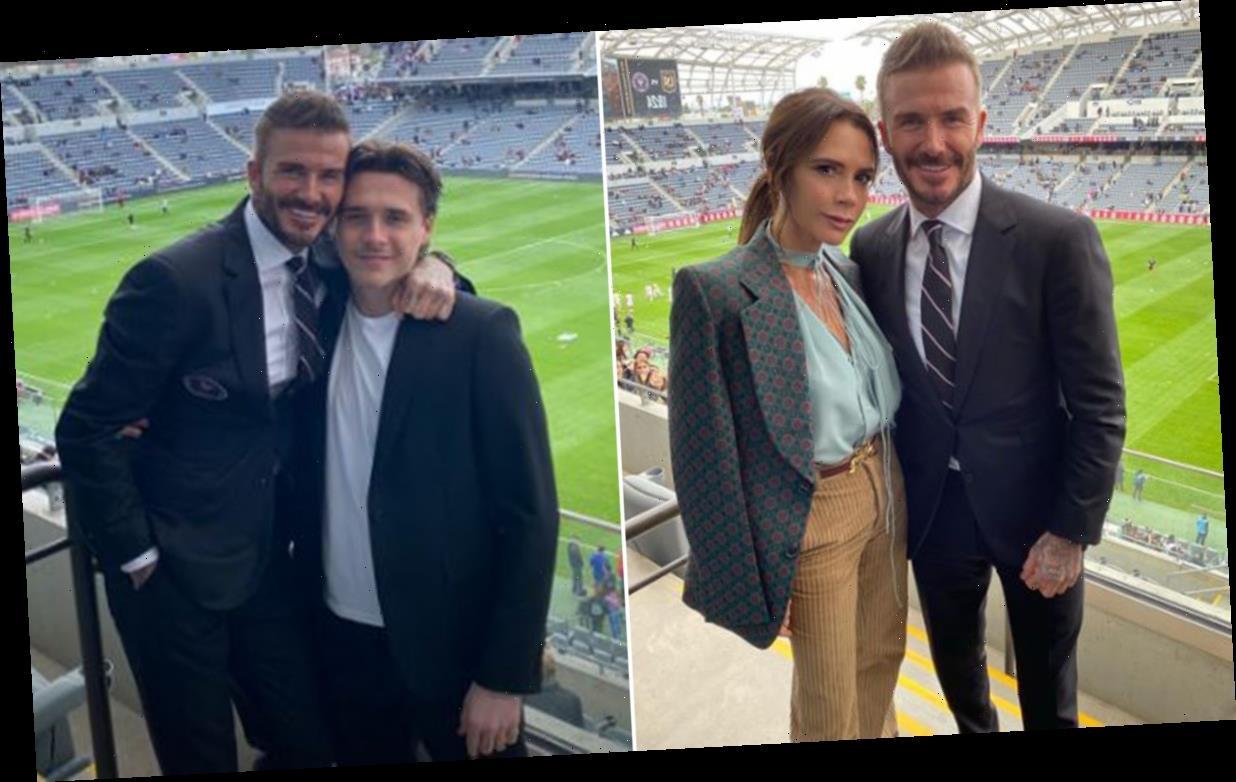 Victoria Beckham supports husband David Beckham at his first Inter Miami game