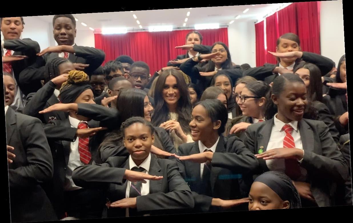 Meghan Markle makes surprise visit to Dagenham school to mark International Women's Day