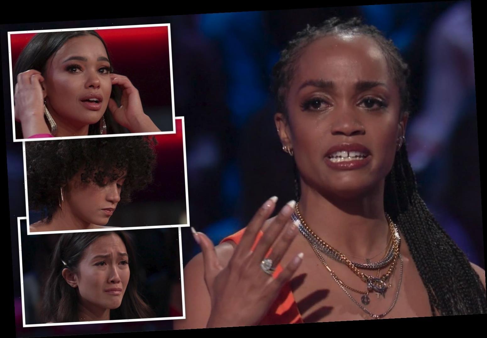 Bachelorette alum Rachel Lindsay in tears as she reads cruel trolls' racist social media attacks