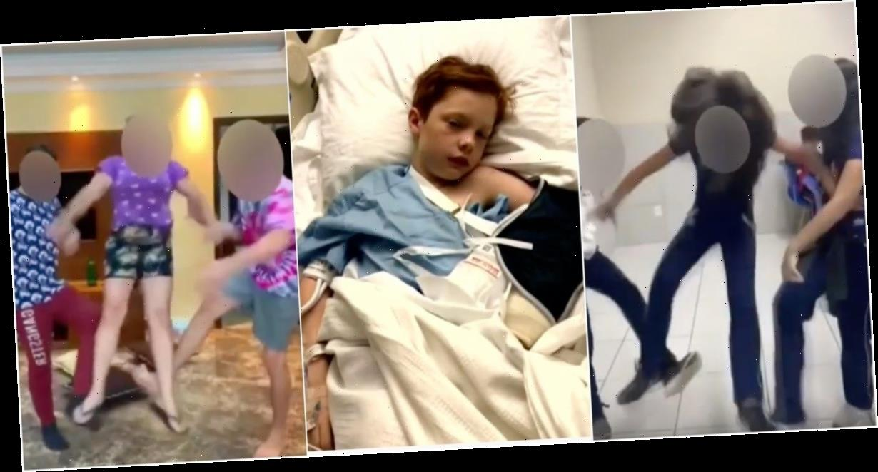 A young boy got a concussion and was hospitalized after his friends performed the TikTok 'skull-breaker' challenge on him