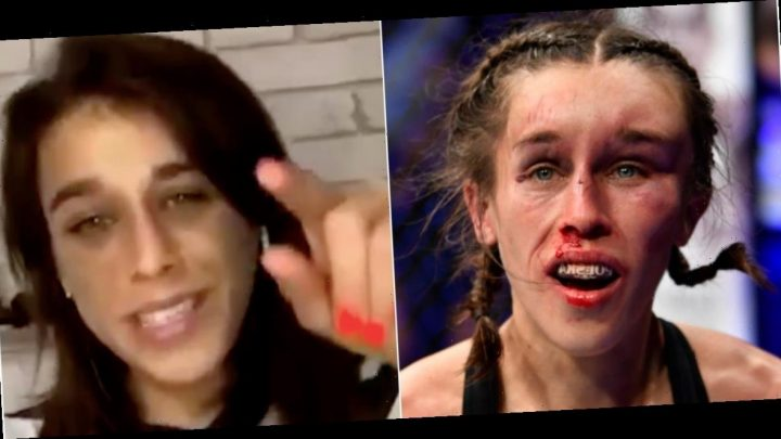Joanna Jedrzejczyk finally looks recovered in a video posted 16 days after being disfigured in a bloody UFC battle with Weili Zhang