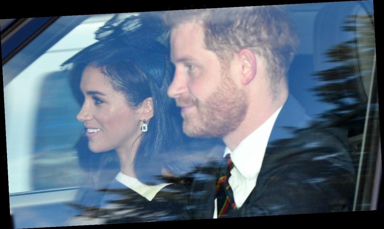 Meghan Markle and Prince Harry Attend Church Service With the Queen
