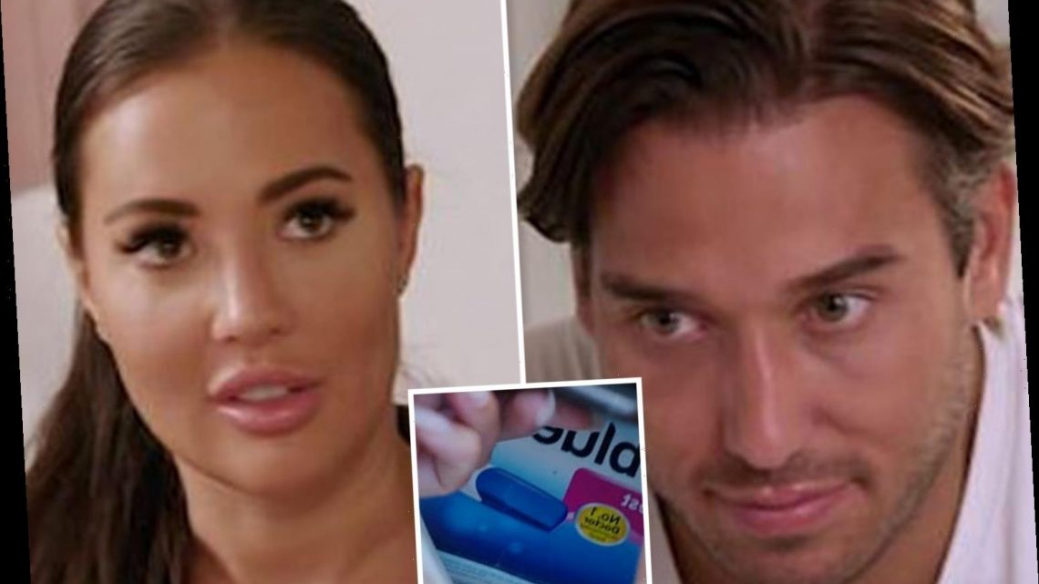Towie's Yazmin Oukhellou shocks boyfriend James Lock by telling him she could be pregnant