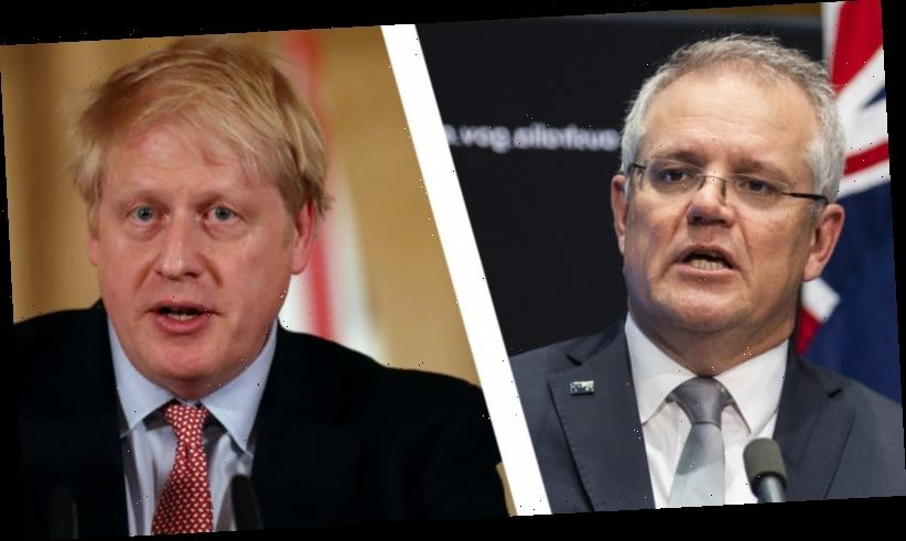 Boris Johnson asks Scott Morrison to take 'bold action' on climate change