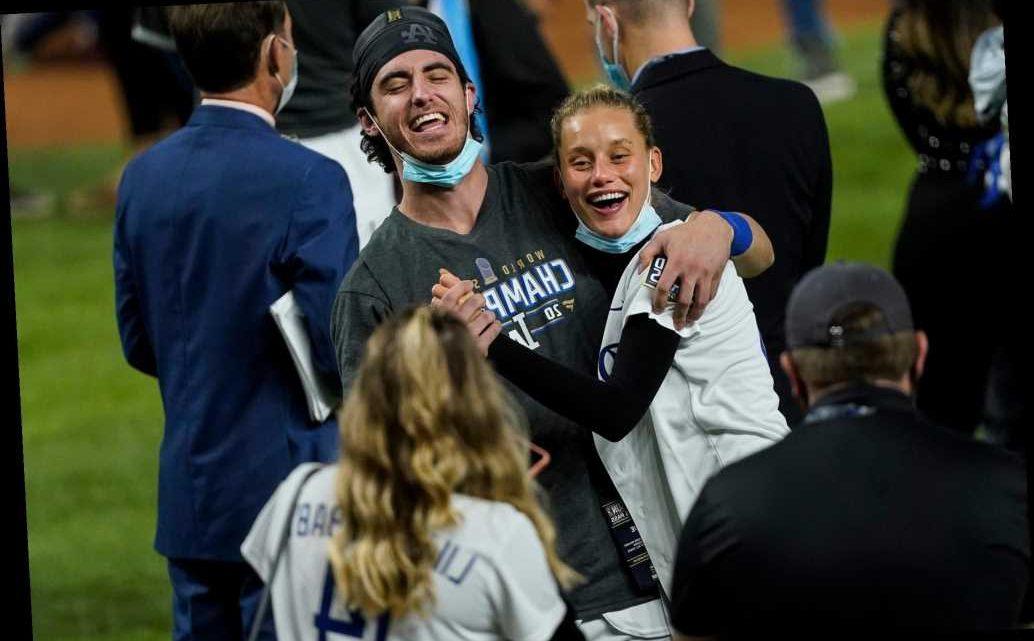 Chase Carter celebrates boyfriend Cody Bellinger's World Series win