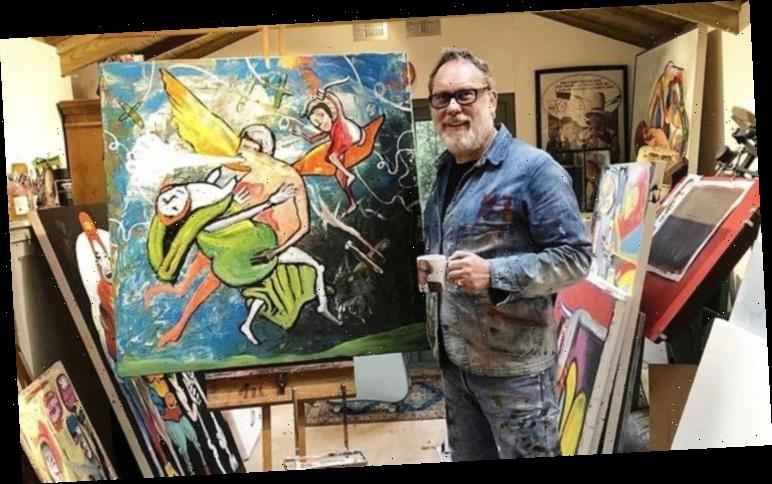 Vic Reeves art: 'Pouring bleach on to paintings can work – I'm like Dr Frankenstein'