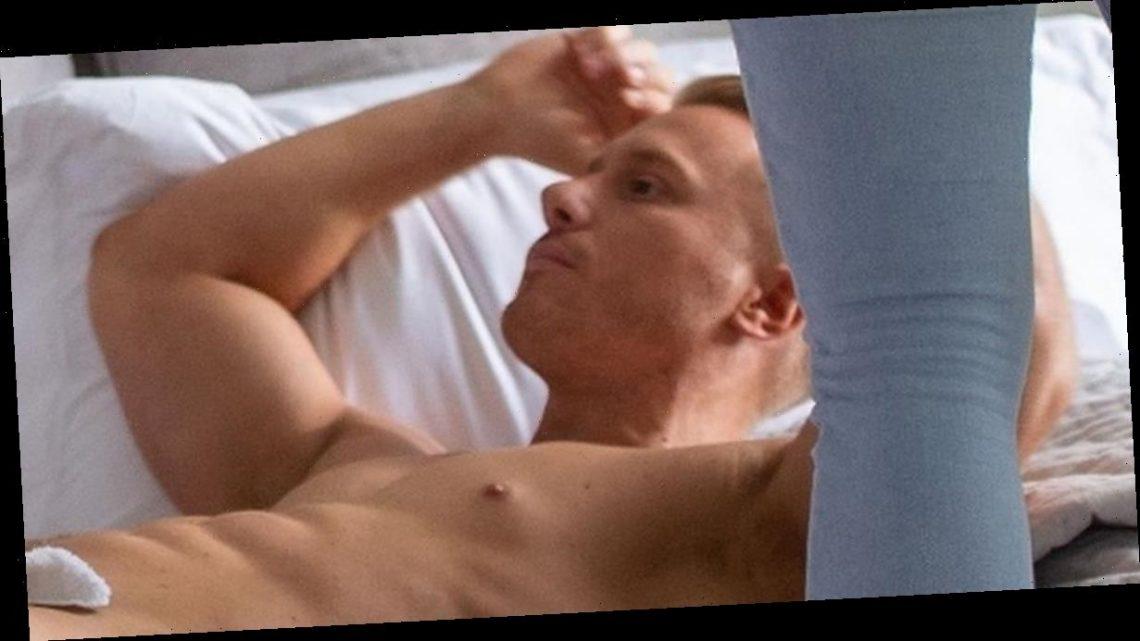 Bianca Gascoigne rearranges Kris Boyson's manhood in awkward naked photoshoot