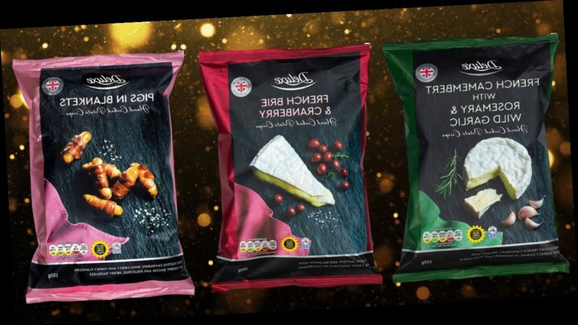 Lidl's festive crisps range includes brie & cranberry and pigs in blankets