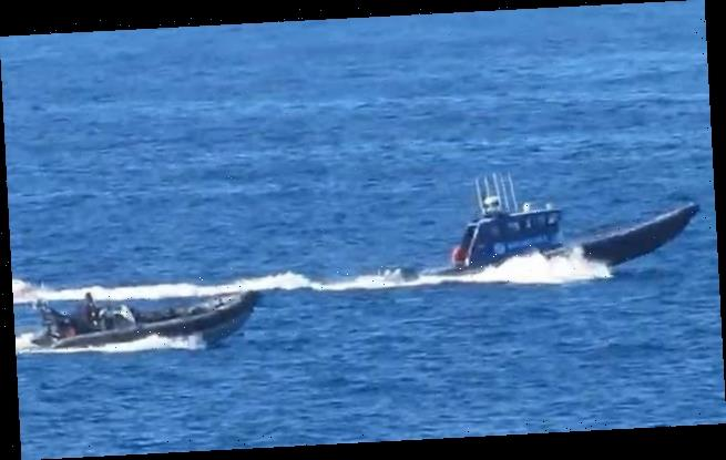 Royal Navy vessels scramble to stop Spanish Customs boarding boat