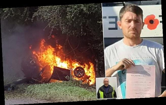 HGV driver and instructor help save 75-year-old from burning car