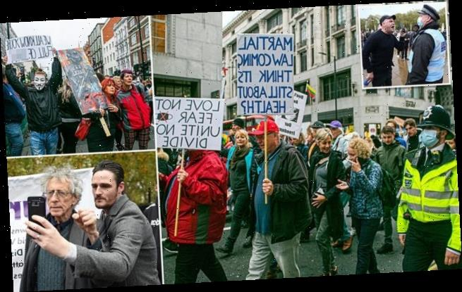 Thousands protest Covid curbs in capital including Piers Corbyn