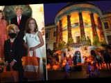 Trump and Melania pose with kids dressed as them at Halloween party