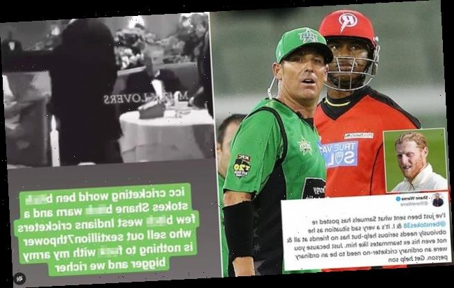 Shane Warne lays into Marlon Samuels and urges him to 'get help'