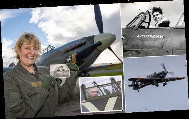 WWII pilot's daughter takes to the skies in Hurricane he flew
