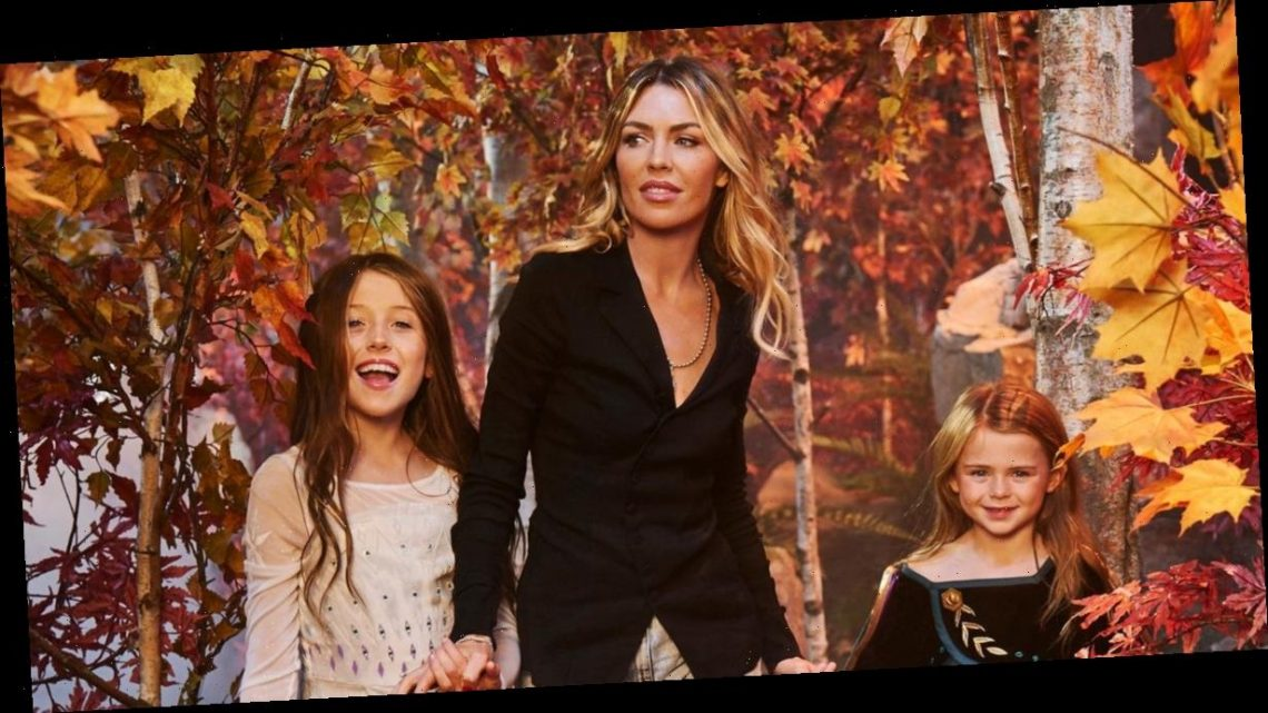 Abbey Clancy shares rare look at daughters Sophia and Liberty as they join her on Frozen Fashion week