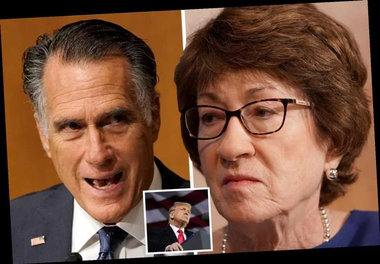 Republican Mitt Romney reveals he DIDN'T vote for party leader Trump as Susan Collins refuses to say who she'll back