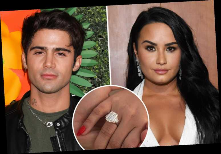 Demi Lovato gives back engagement ring to ex-fiancé Max Ehrich after singer called off wedding following nasty split