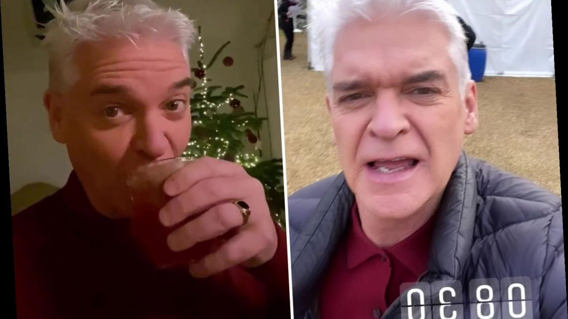 Phillip Schofield downs whiskey sours at 9am as he takes fans behind the scenes of How To Spend It