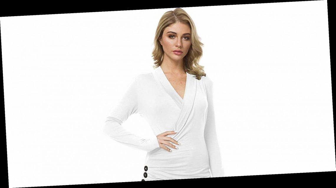 This Wrap-Style Long-Sleeve Top Is Flattering for All Body Types