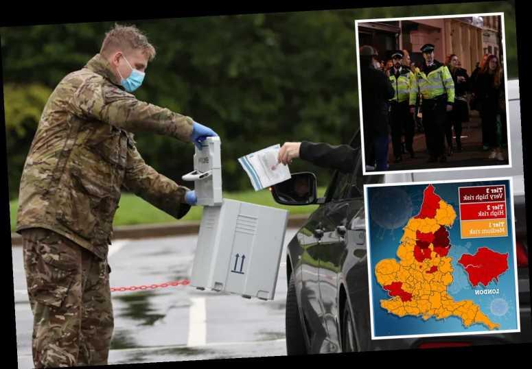 Army sent into Tier 3 lockdown zones to help enforce coronavirus rules