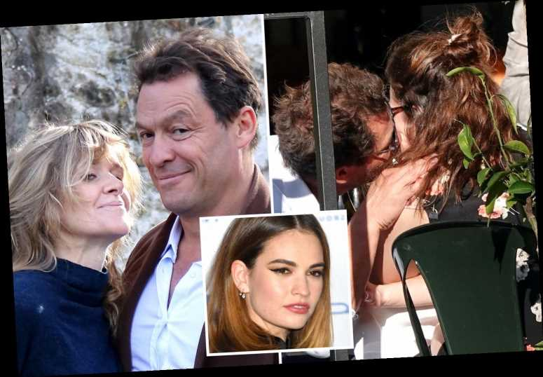 Lily James 'called Dominic West's wife on Monday night to insist pictures of them were innocent' claims new report