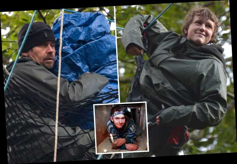 Veteran eco-warrior Swampy, 47, joined by son, 16, in tree to protest against HS2