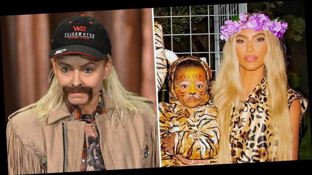 Kim Kardashian, Kelly Ripa and More Stars Dress as 'Tiger King' Cast