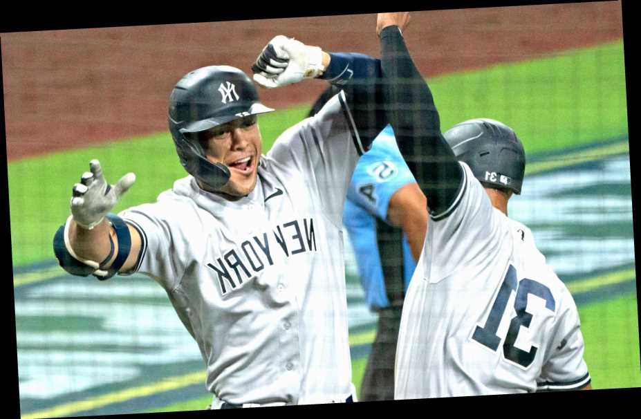 Giancarlo Stanton's on a playoff home-run binge for the ages