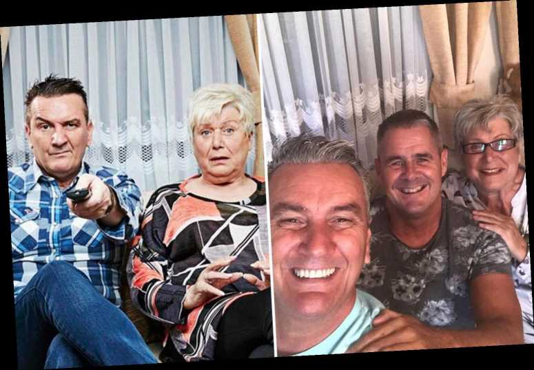 Gogglebox's Lee reunites with husband Steve for a loved-up selfie after a month quarantining in caravan with Jenny