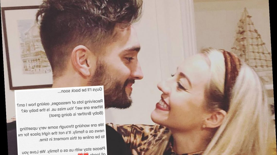Tom Parker's wife Kelsey hinted at 'upsetting news' a month ago when Wanted star received devastating tumour diagnosis