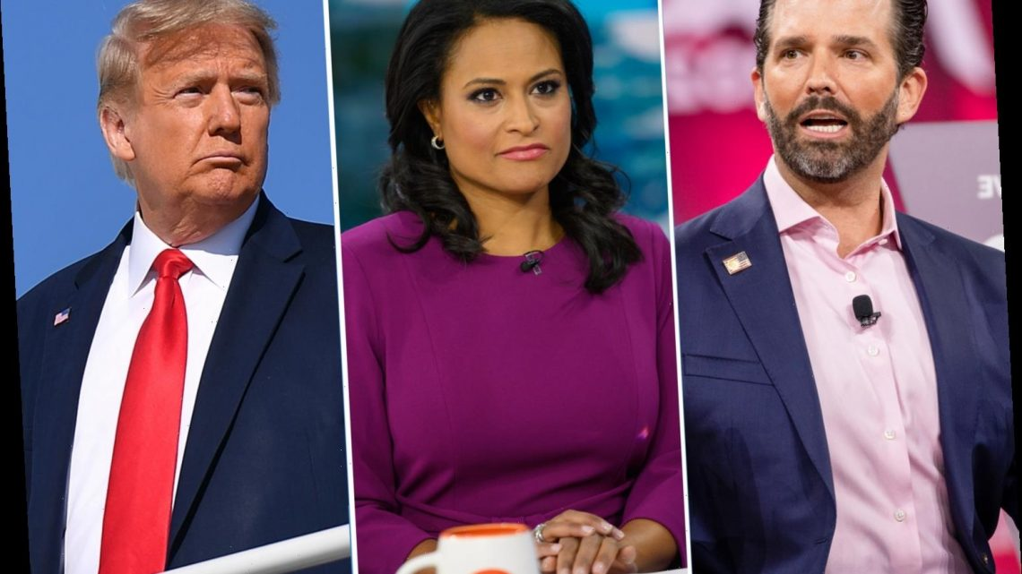 Trump and Don Jr slam 'terrible, unfair' debate moderator Kristen Welker as Democrat ties probed