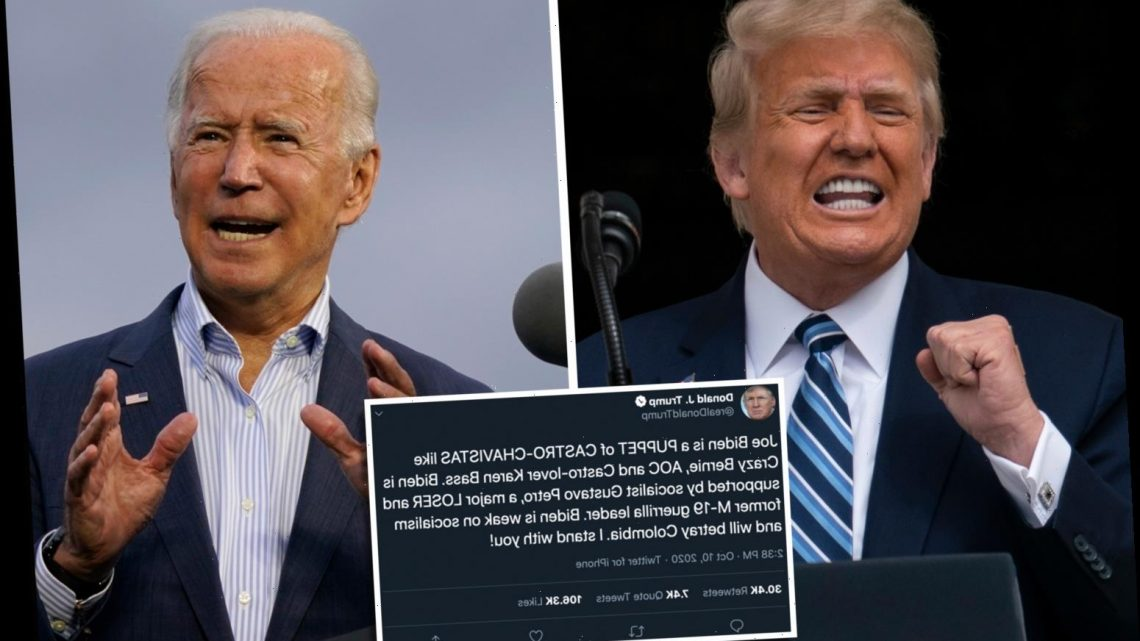 Trump says 'socialist' Biden is a PUPPET of Castro lovers like Bernie Sanders and AOC