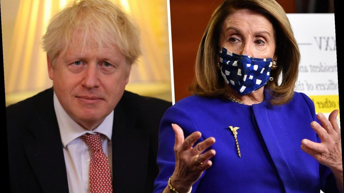 Pelosi slams Boris Johnson over 'concern' he could approve a substandard Covid drug that Trump may also 'embrace'