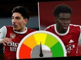 Hector Bellerin lucky to stay on pitch during poor Leicester defeat as Bukayo Saka only shining light before Vardy goal