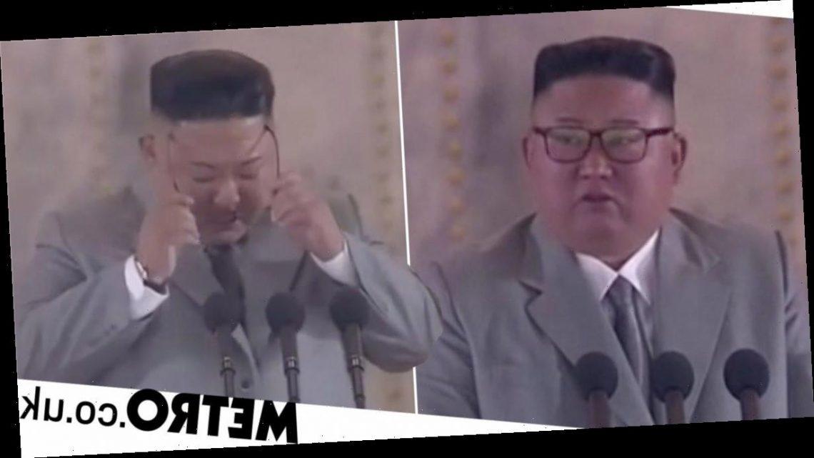 Kim Jong-un sheds tears as he apologises to North Korea for failures
