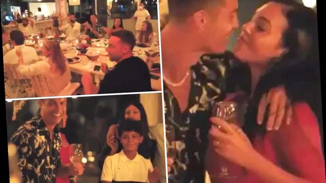 Inside Cristiano Ronaldo's wedding-style party with music and beer as Juventus ace and Georgina Rodriguez look loved up