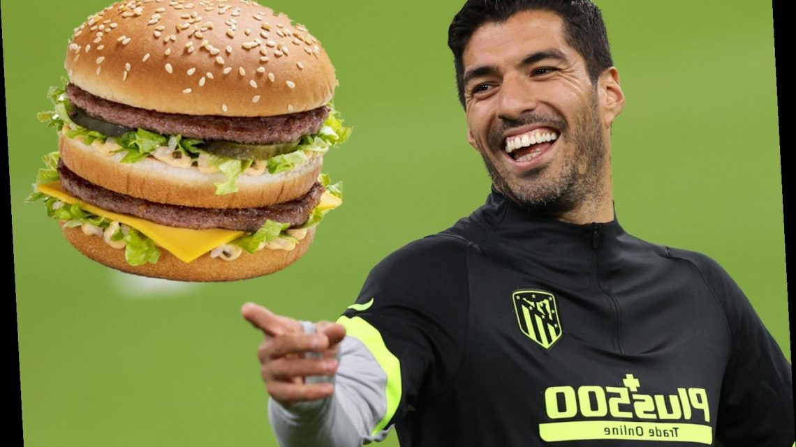 Atletico Madrid star Luis Suarez buys 1,000 Big Macs and raises £4,300 in McDonald's charity event