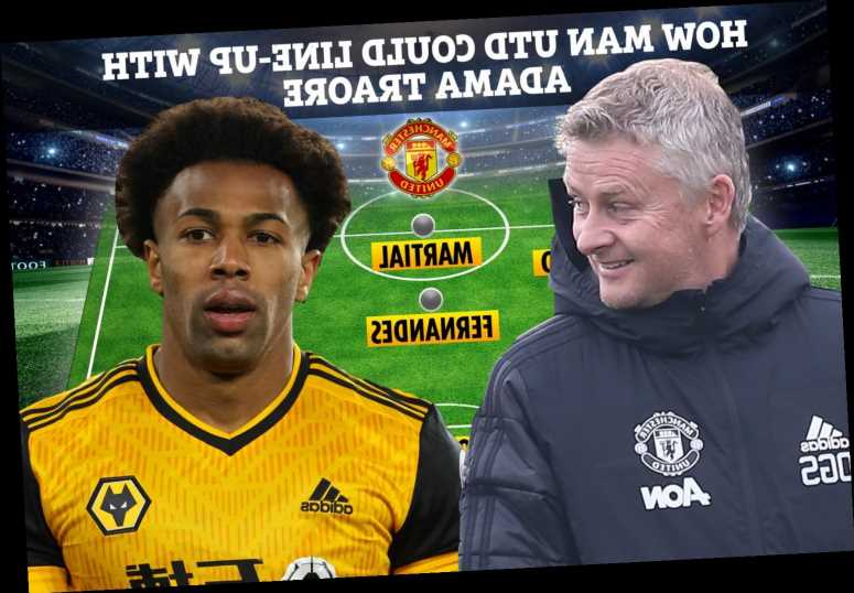 How Man Utd could line-up with Adama Traore as Ole Gunnar Solskjaer eyes Wolves ace to link-up with Rashford and Martial