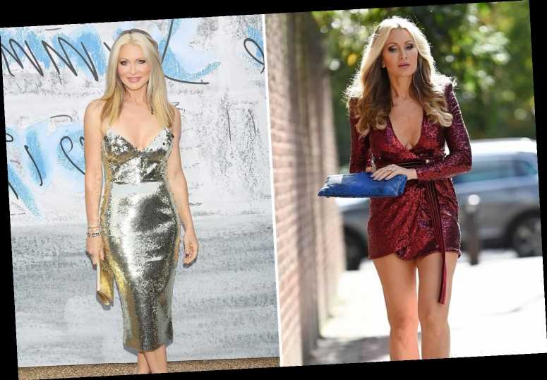 Caprice, 48, shows off her endless legs in sparkly mini dress