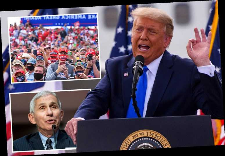 Trump slams Dr Fauci as 'Cuomo's friend' and a 'Democrat' as North Carolina rally crowd boo the Covid expert