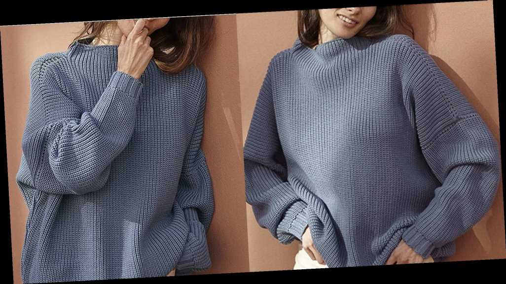 This Chunky Batwing Sweater Can Flatter Nearly Every Body Type