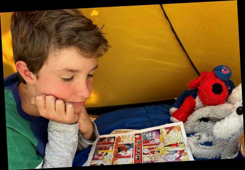 Boy of ten raises £16,000 for hospice by camping out in his back garden for 200 nights