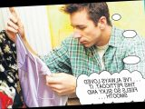 Cliff admires Janice's lingerie while she's out with her mum