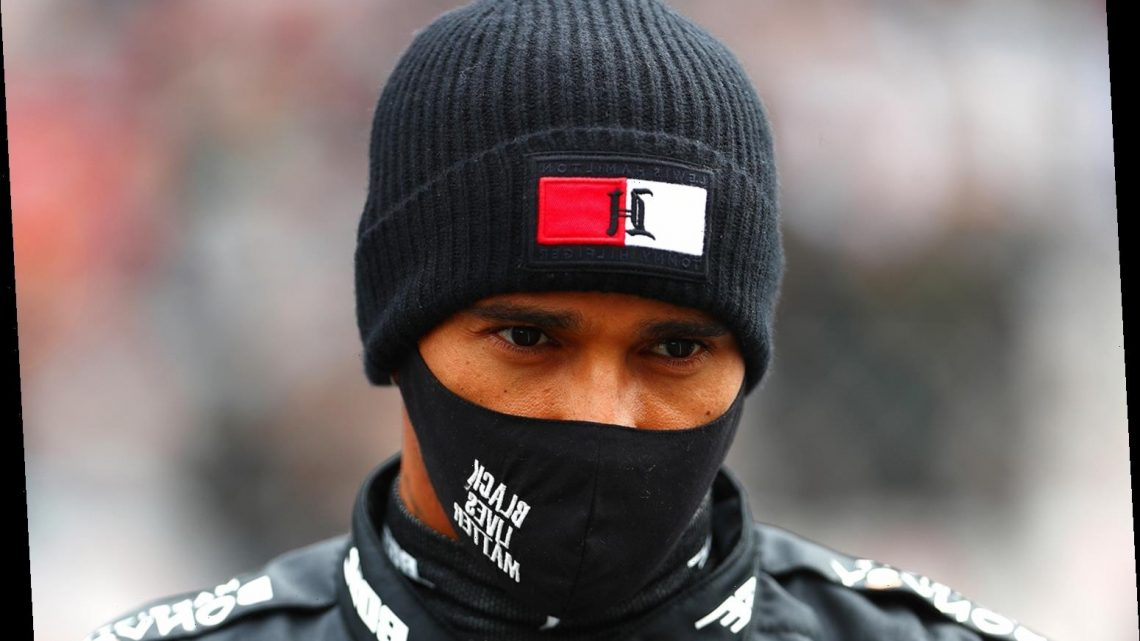 Lewis Hamilton Wears Black Lives Matter Mask After Passing Michael Schumacher for Most F1 Wins