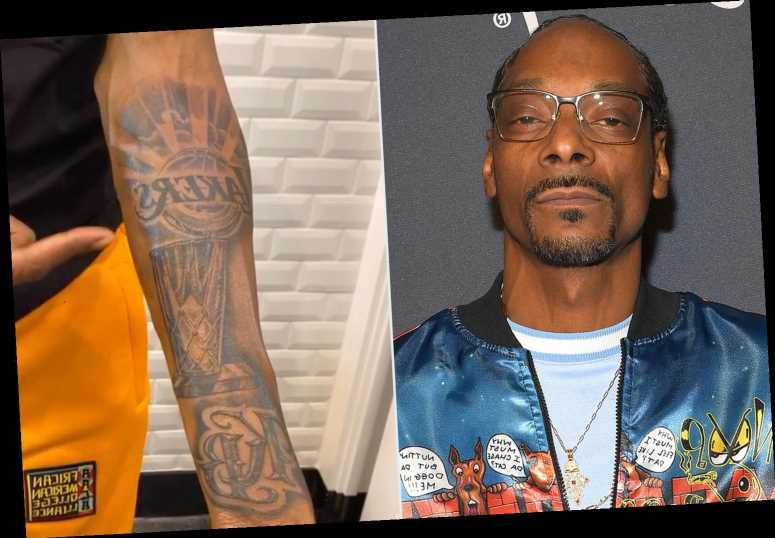 Snoop Dogg Gets a Lakers Tattoo Featuring Kobe Bryant's Initials Following the NBA Finals