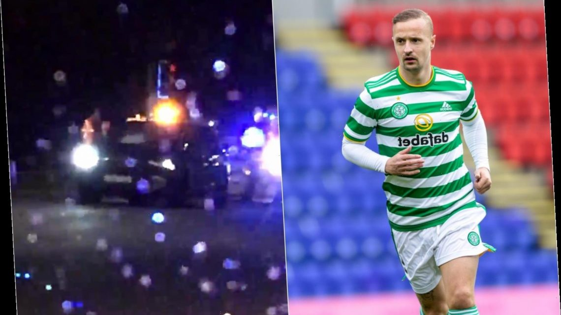 Celtic star Leigh Griffiths in lucky escape after three-car crash in Lanarkshire