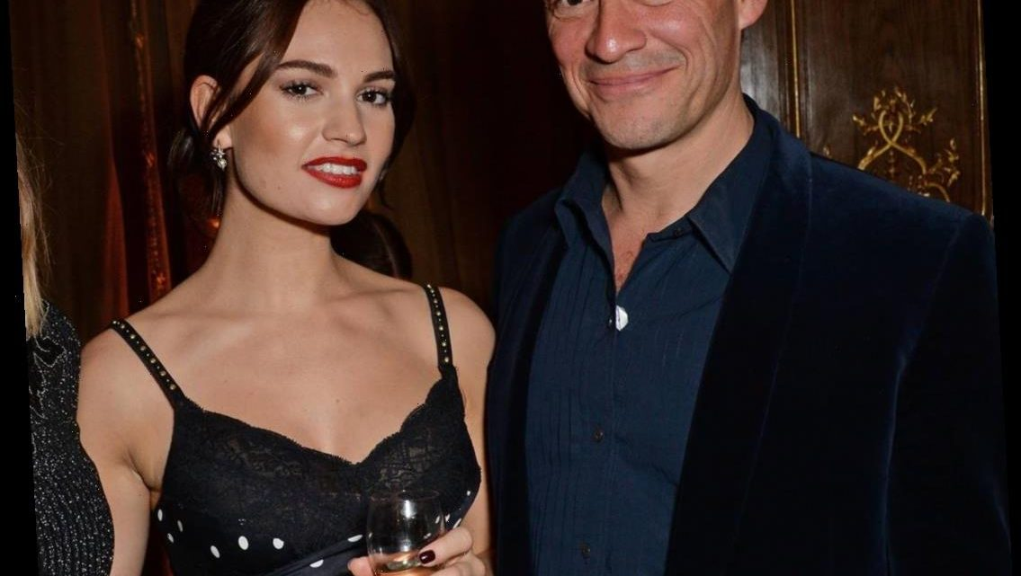 See the Photo of Lily James and Married Co-Star Dominic West That Has the Internet Talking